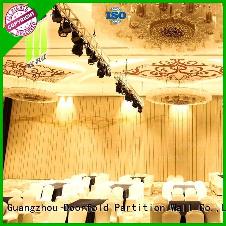 Doorfold movable partition Brand retractable partitions operable acoustic movable partitions hotel