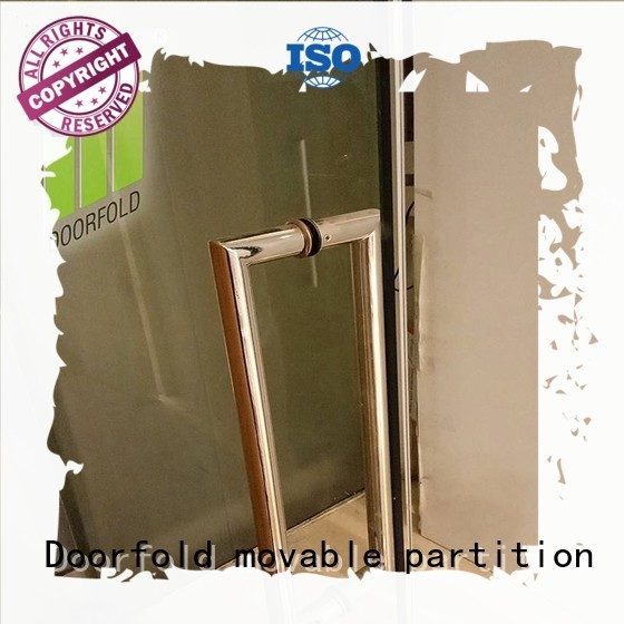 retractable frameless soundproof OEM glass partition wall Doorfold movable partition