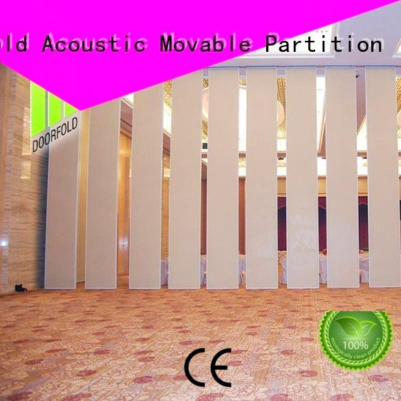 hotel wall operable retractable Doorfold movable partition sliding folding partition