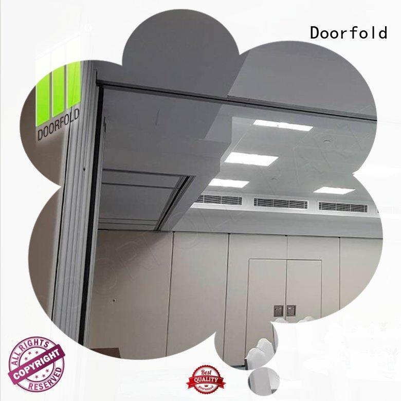 Doorfold retractable custom room divider for theater