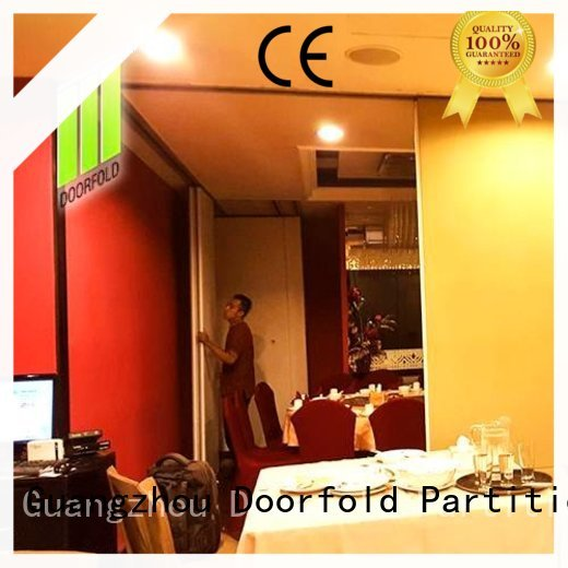 Doorfold acoustic Sliding Partition for Commercial Room at discount for hotel