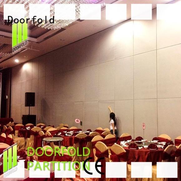 Doorfold sliding folding partition easy installation