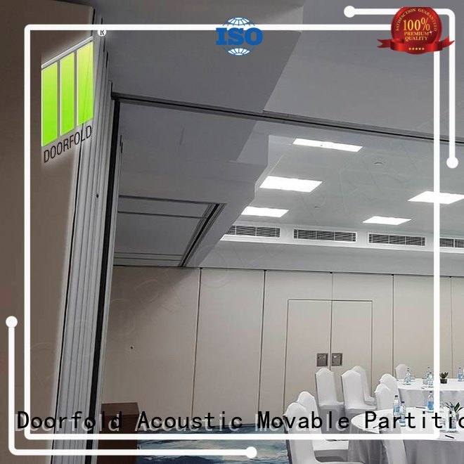 Doorfold collapsible soundproof partition wall custom for conference room