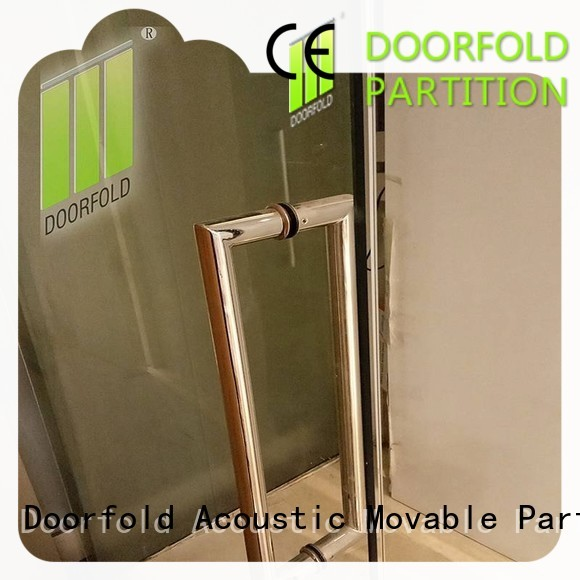 Doorfold low-cost glass office partitions inquire for conference
