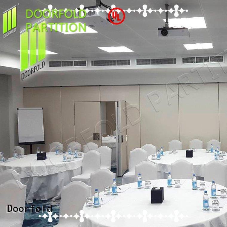 Doorfold retractable custom room divider custom for meeting room