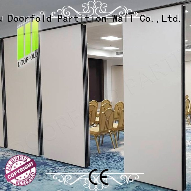 Doorfold room operable wall systems for conference