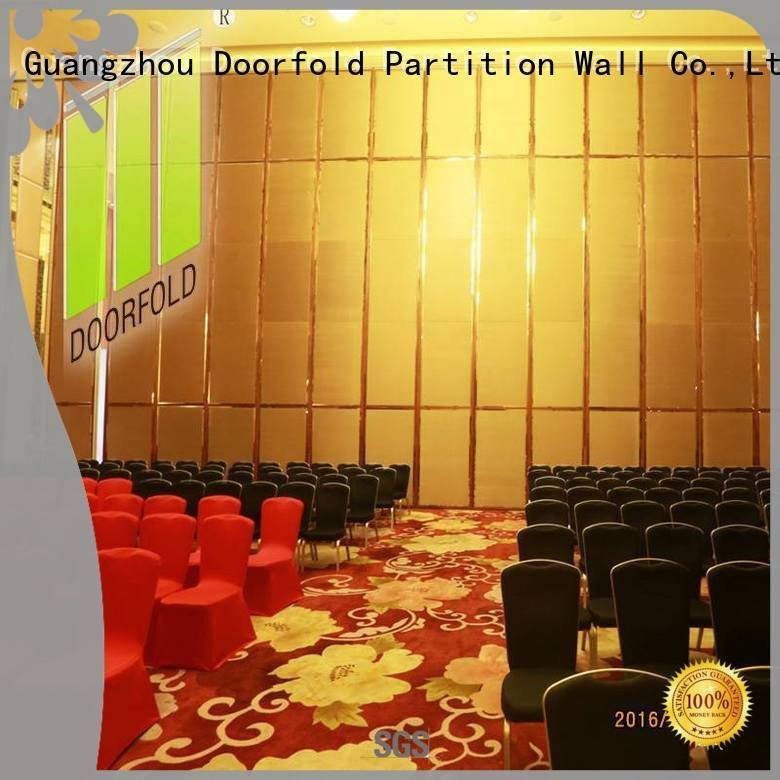 Doorfold movable partition acoustic movable partitions hotel yun divider haikou