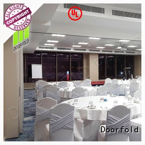 collapsible sliding glass partition walls production for conference room Doorfold