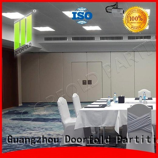 Doorfold movable partition wall acoustic sliding folding partition commercial conference