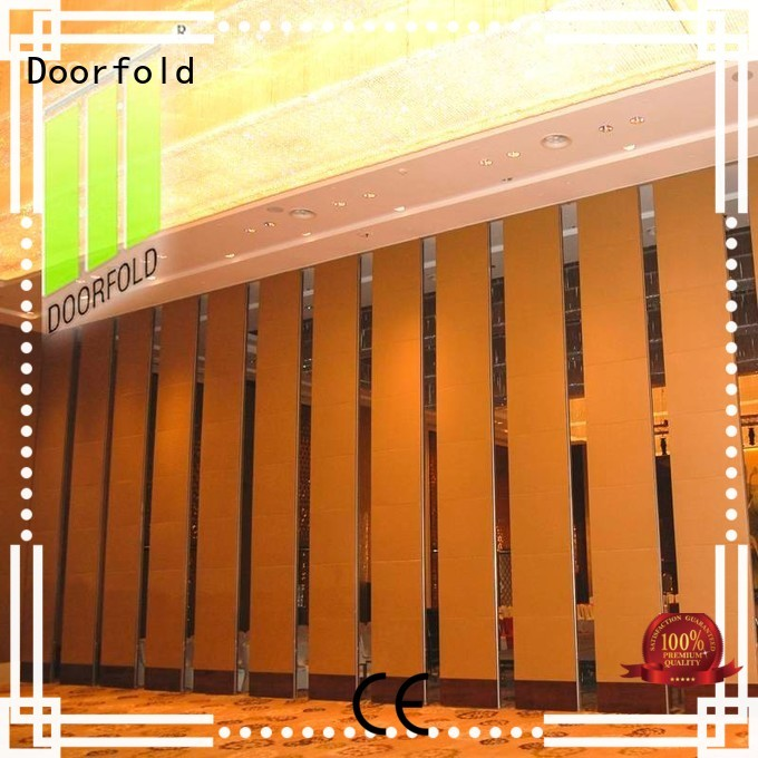 Doorfold folding acoustic folding walls restaurant for office