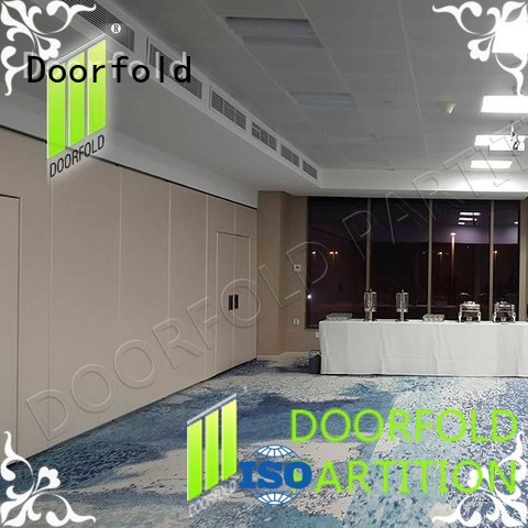 Doorfold retractable sliding folding partition simple structure for meeting room