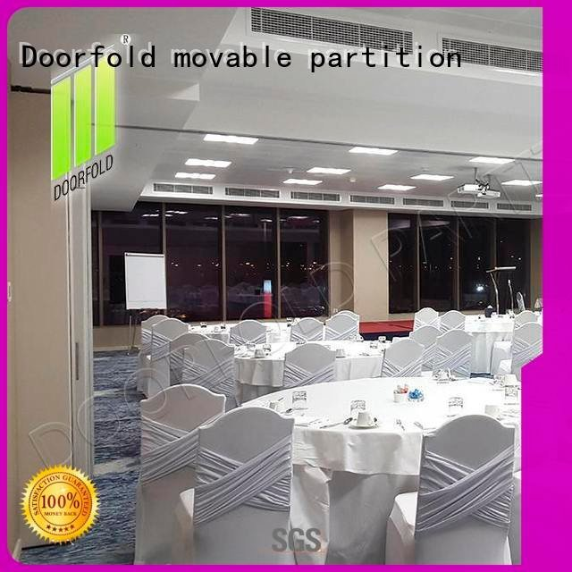 Doorfold movable partition Brand acoustic retractable meeting sliding folding partition conference