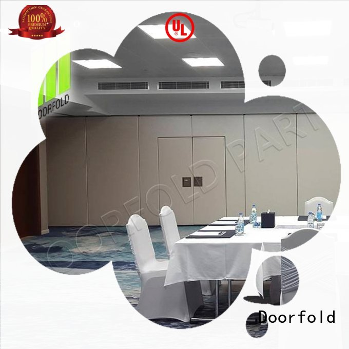 Doorfold operable sliding folding partition latest design for meeting room