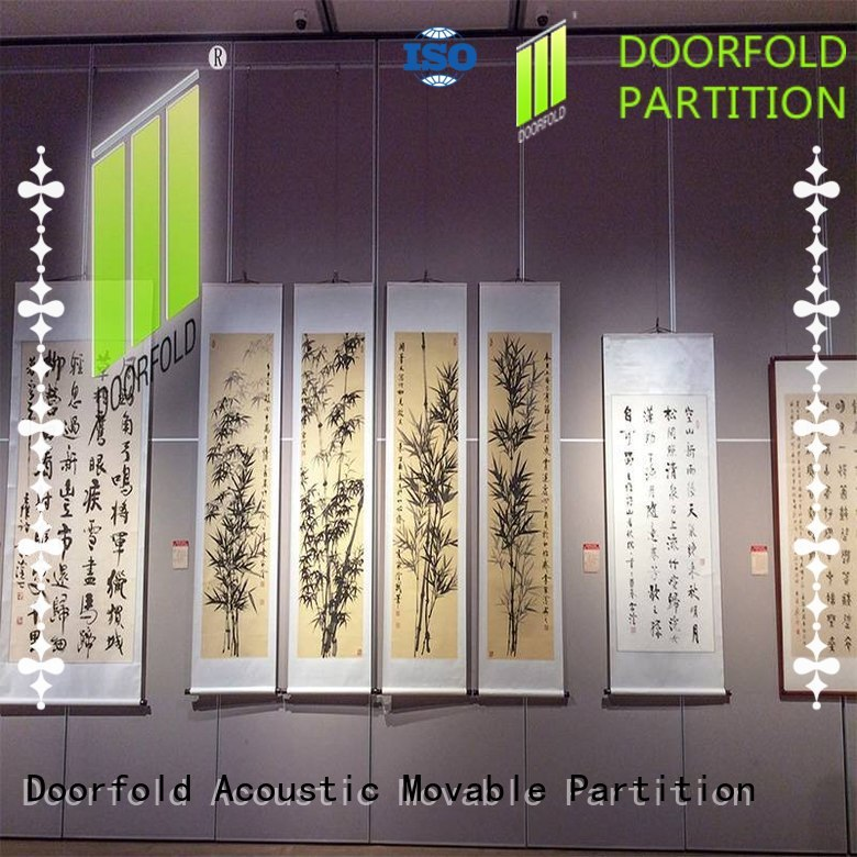 acoustic movable walls room partitions panels museum Doorfold movable partition
