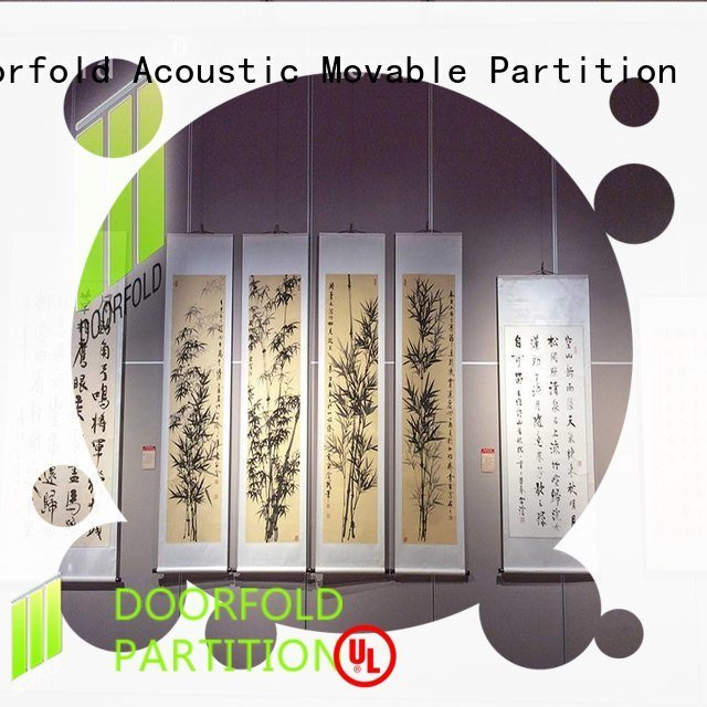 sliding folding partitions movable walls museum movable walls soundproof Doorfold movable partition