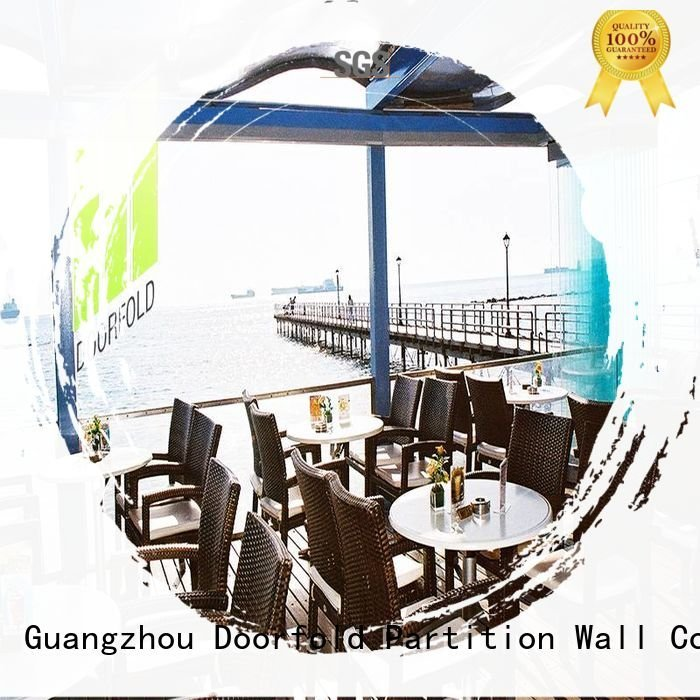 Doorfold movable partition Brand restaurant panels glass partition walls for office movable commercial