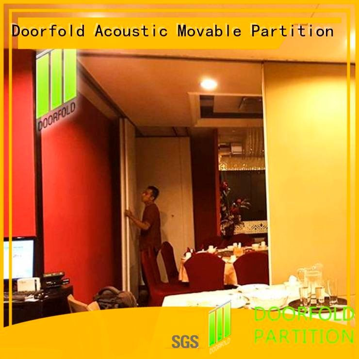 Doorfold movable partition commercial room dividers wall acoustic divider flexible