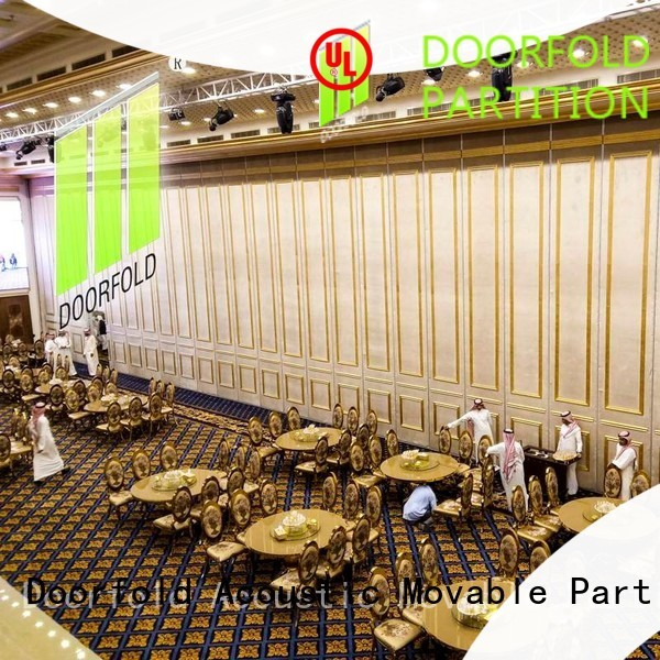 golden conference room partition walls at discount for restaurant