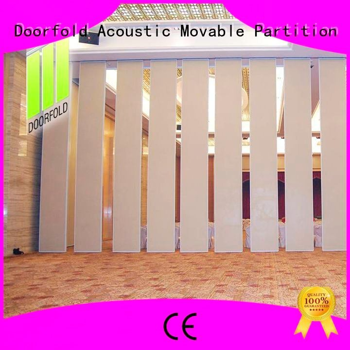 wall acoustic retractable Doorfold movable partition sliding folding partition
