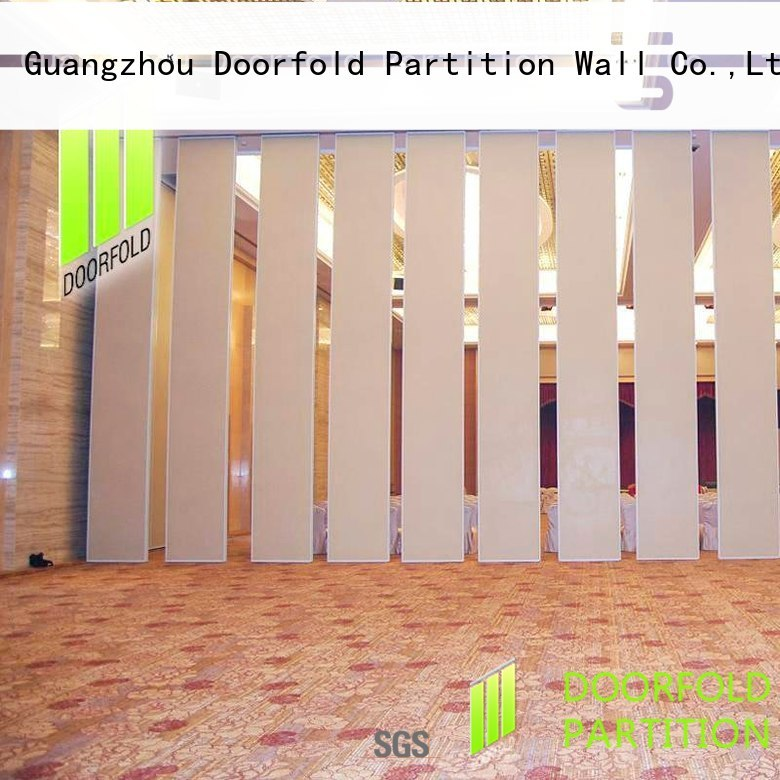 Doorfold sliding folding partition cheapest factory price for meeting room