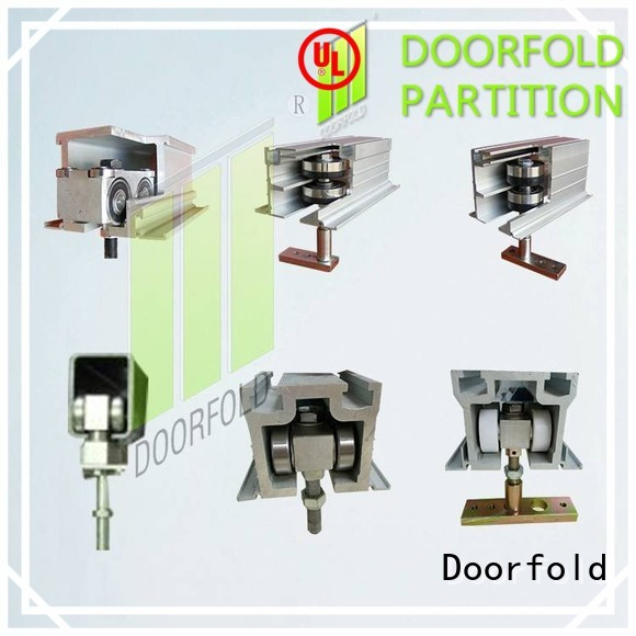 Doorfold partition hardware at discount for museum