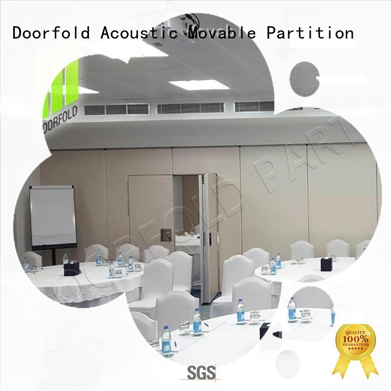 Doorfold soundproof partition wall custom for expo