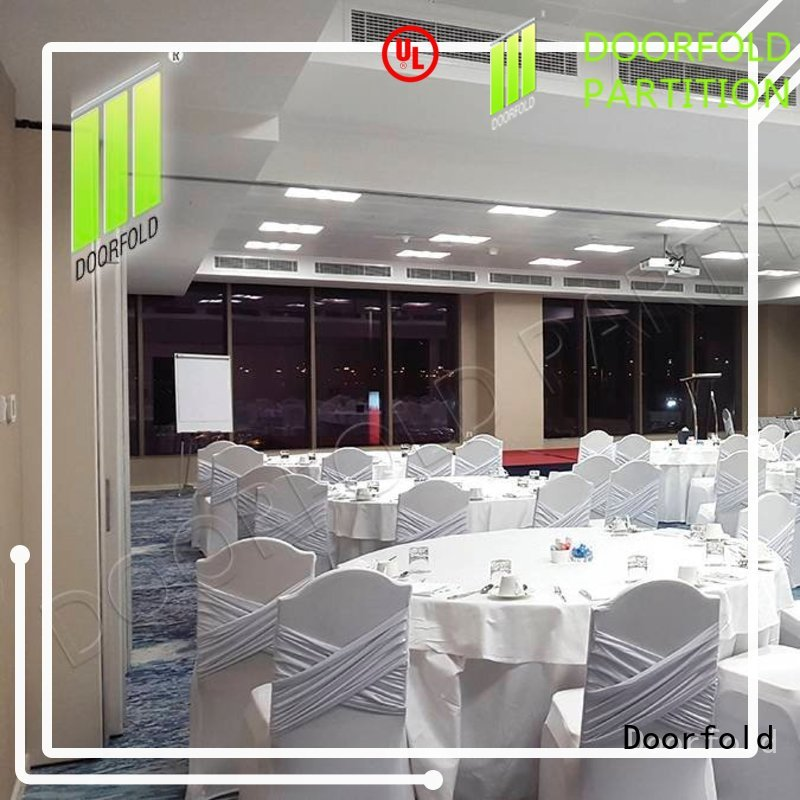 Doorfold commercial sliding glass partition walls wall for office