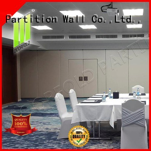 Doorfold movable partition sliding folding partition walls meeting room partition