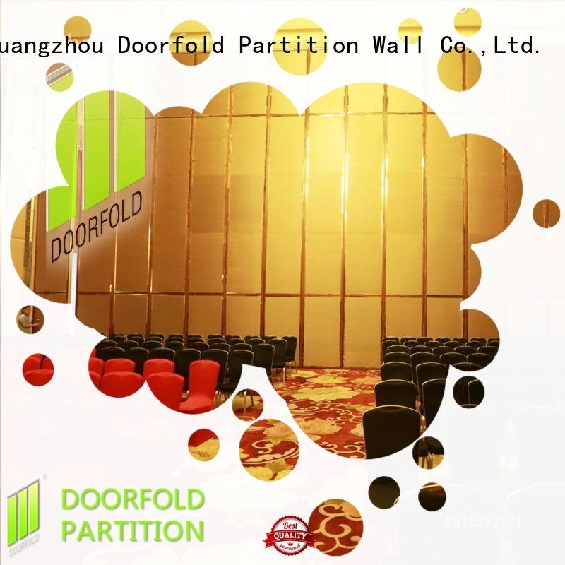 Doorfold acoustic movable partitions fast delivery decoration
