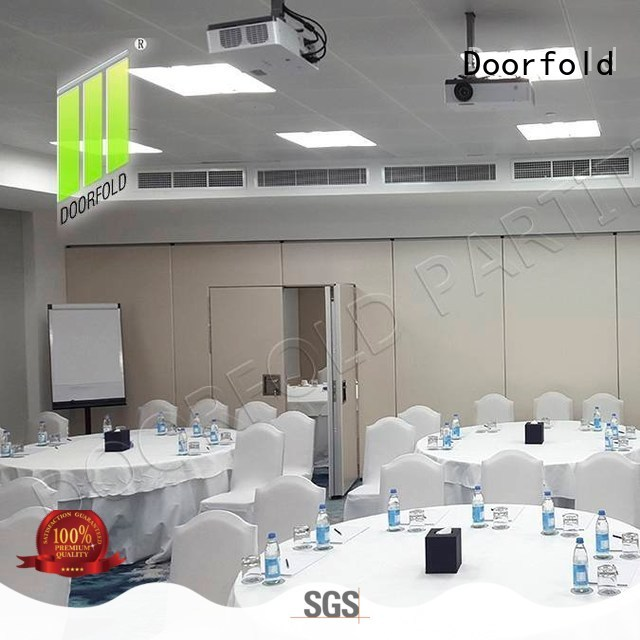 Doorfold acoustic soundproof office partitions custom for conference room