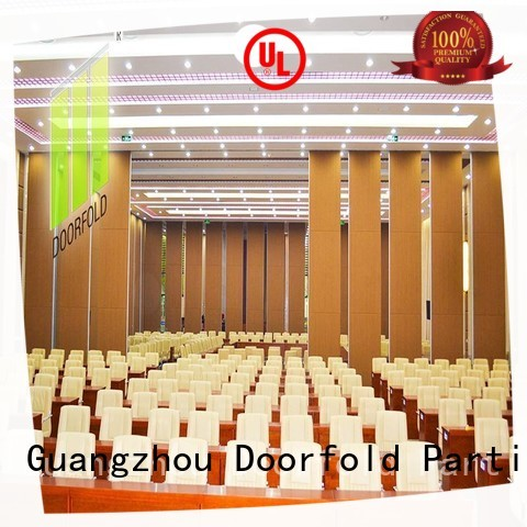 Doorfold conference operable wall systems factory price for restaurant