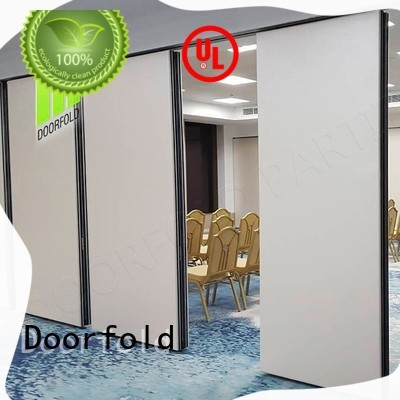 Doorfold movable operable wall systems for meeting room