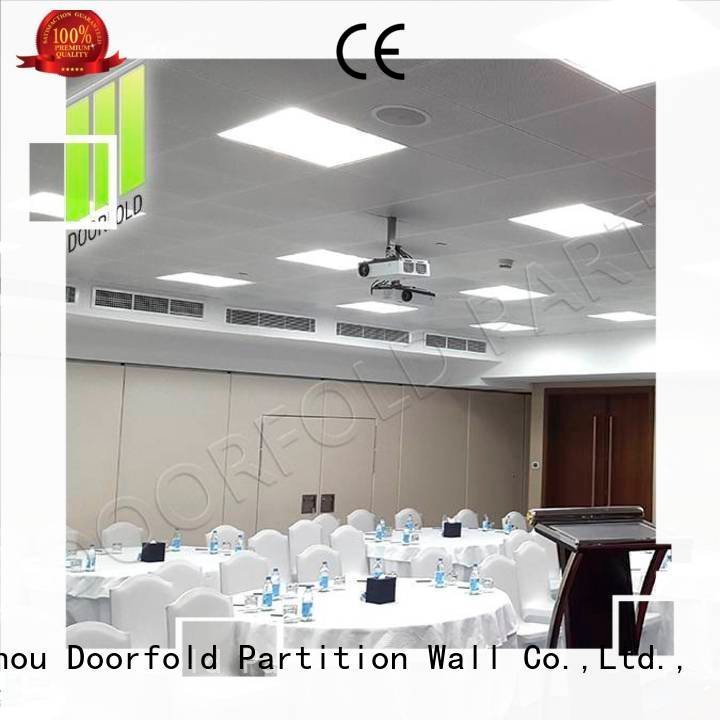 Doorfold movable partition Brand folding operable folding partition walls commercial movable center