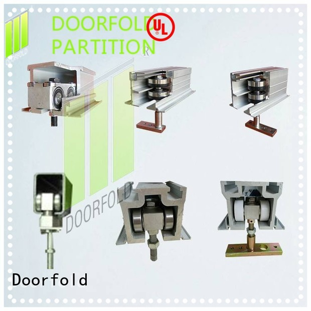 Doorfold wholesale glass partition hardware accessories for movie