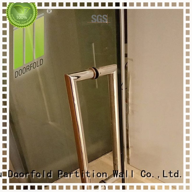 Doorfold folding portable partition inquire for office