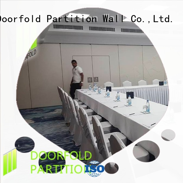 operable sliding partition wall free design for conference