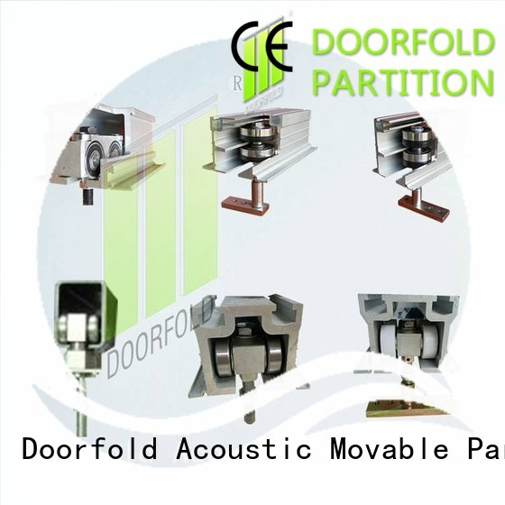 Doorfold partition hardware fast-installation for bedroom