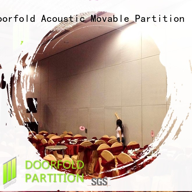 Doorfold movable Sliding Partition Wall for Hotel acoustic