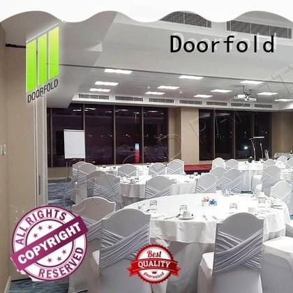 Doorfold sliding folding partition conference