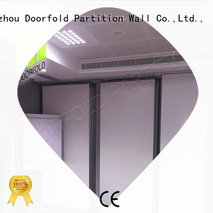 Doorfold movable partition Brand restaurant dela sliding partition wall golden factory