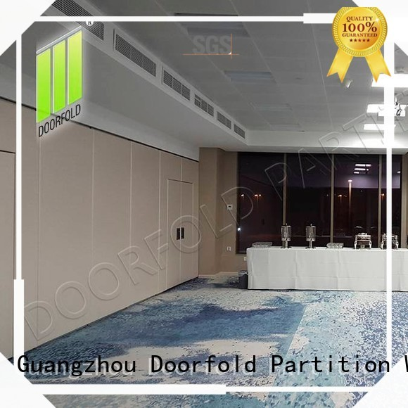 Doorfold movable sliding folding partition easy installation for restaurant
