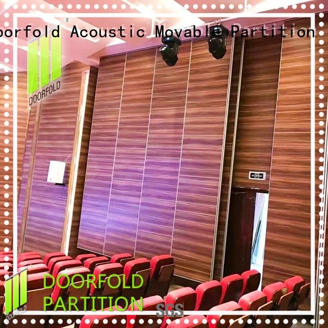 Doorfold free delivery movable wall track systems panels for museum