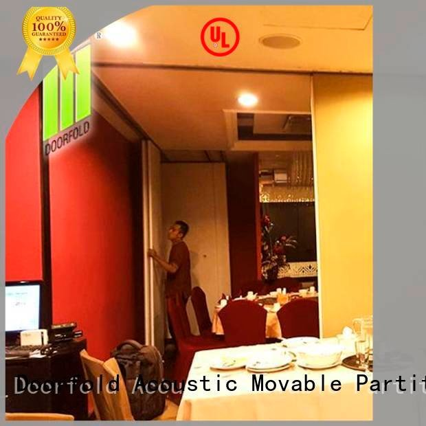 Doorfold movable partition flexible commercial room dividers folding wall