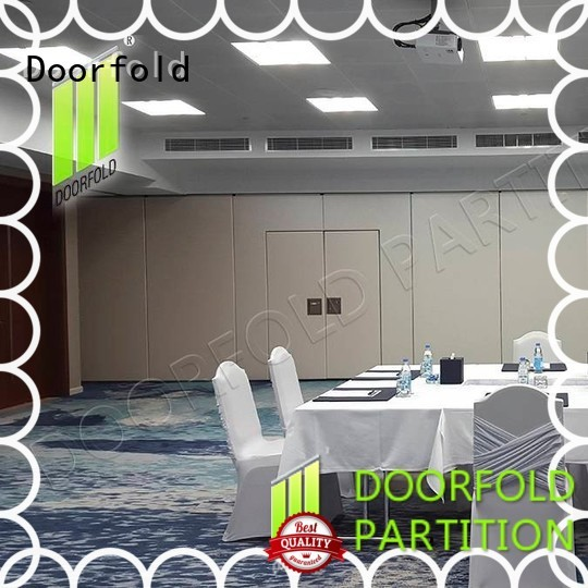 Doorfold sliding folding partitions movable walls retractable for hotel