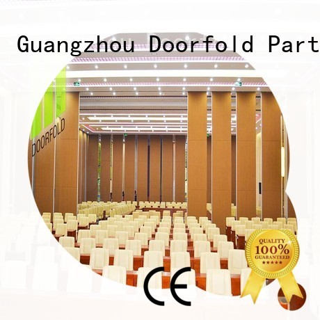 Doorfold custom operable wall acoustic for conference