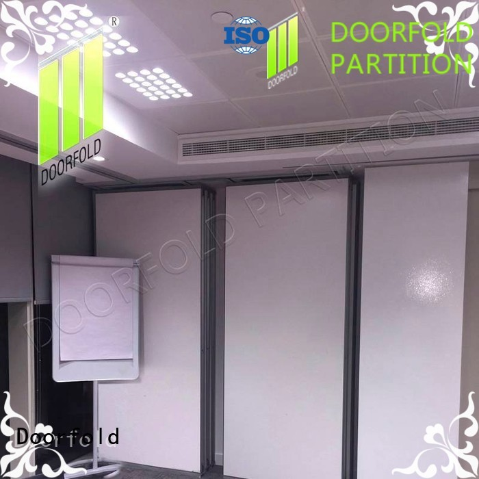 Doorfold sliding partition for office