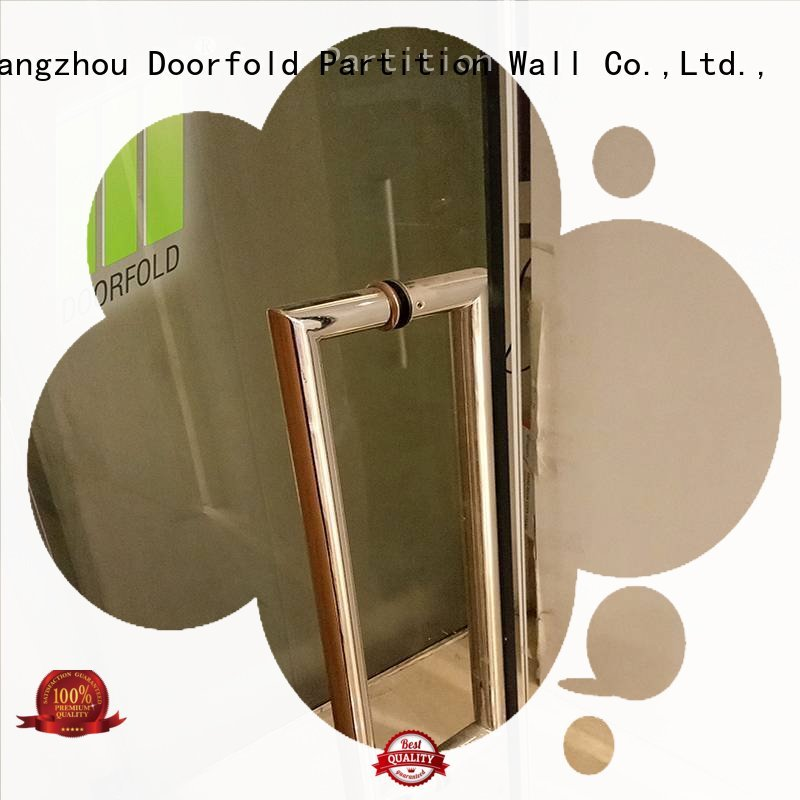 Doorfold movable partition Brand folding commercial glass partition wall frameless factory