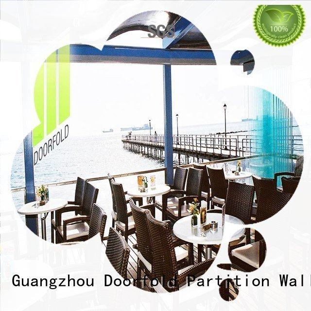 Doorfold movable partition Brand office glass partition wall