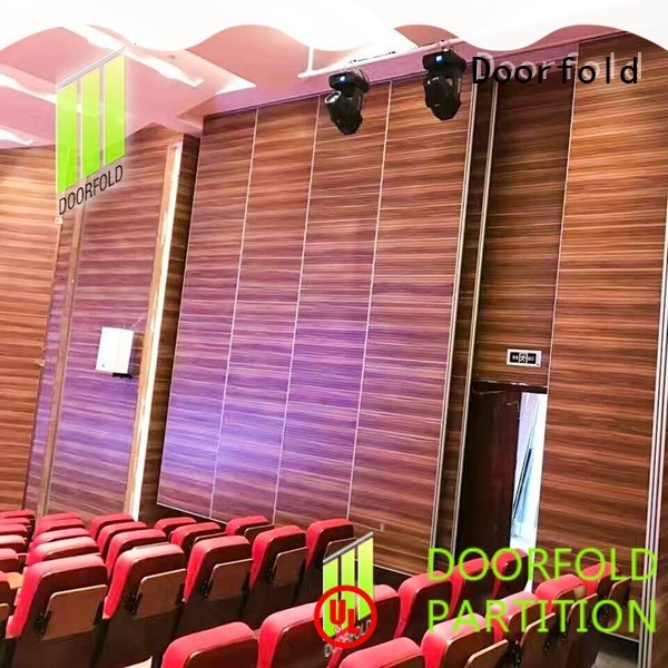 Doorfold high-performance movable walls fast installation for theater