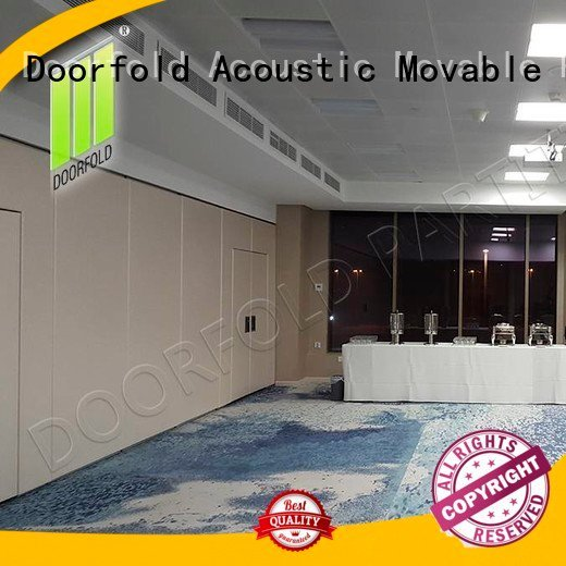 Doorfold movable partition Brand wall divider hotel sliding folding partition